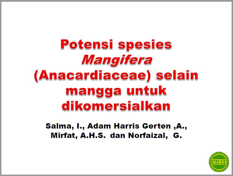 Potensi Spesies Mangifera